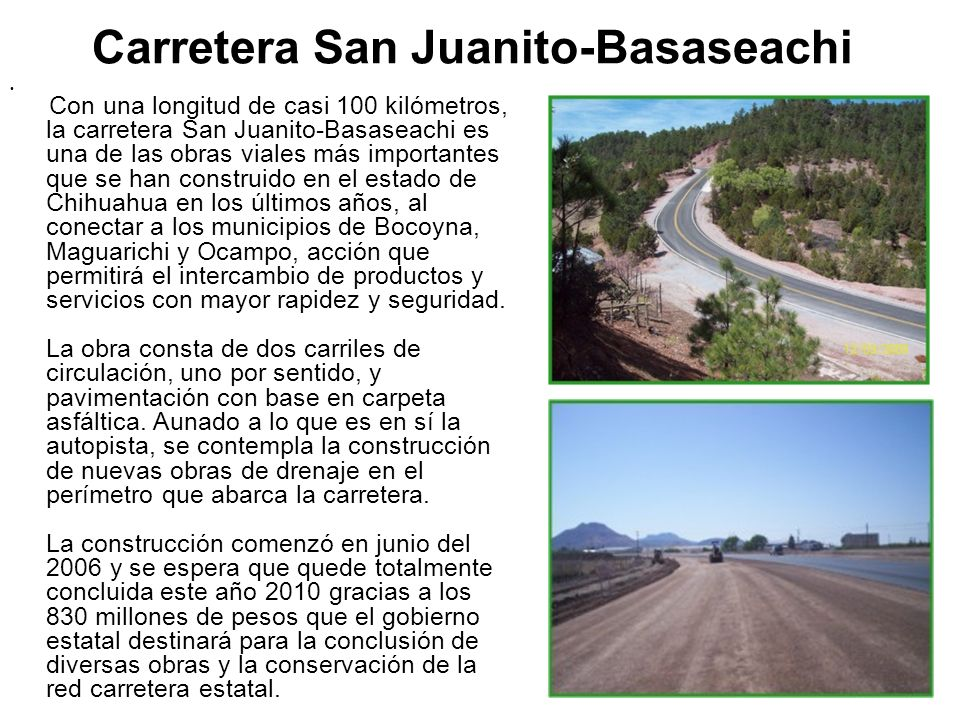 Carretera San Juanito-Basaseachi