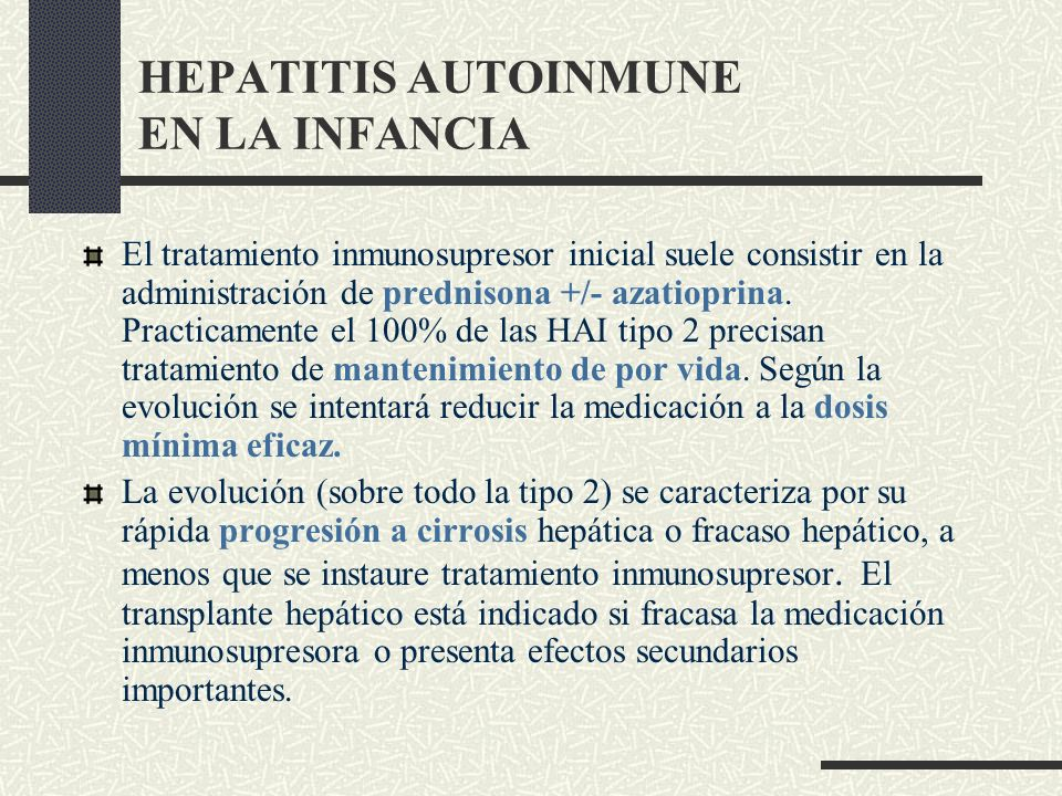 HEPATITIS AUTOINMUNE EN LA INFANCIA