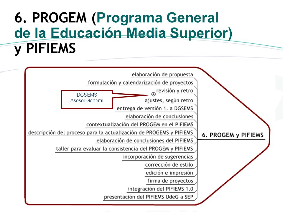 6. PROGEM (Programa General de la Educación Media Superior) y PIFIEMS