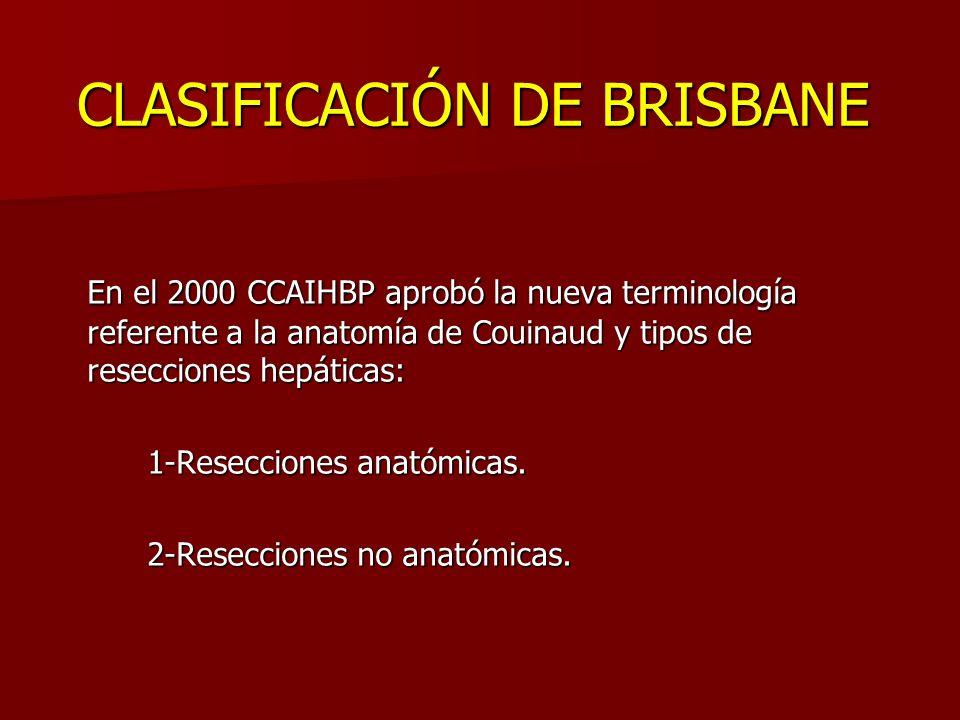 CLASIFICACIÓN DE BRISBANE