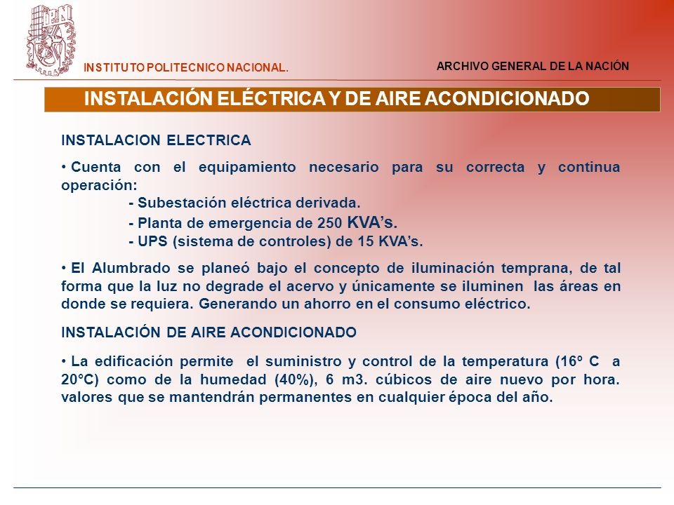 INSTALACIÓN ELÉCTRICA Y DE AIRE ACONDICIONADO