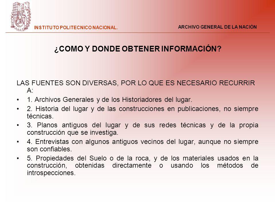 ¿COMO Y DONDE OBTENER INFORMACIÓN