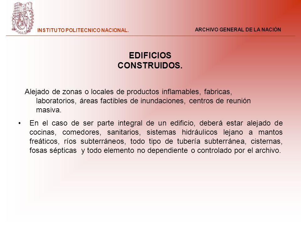 EDIFICIOS CONSTRUIDOS.
