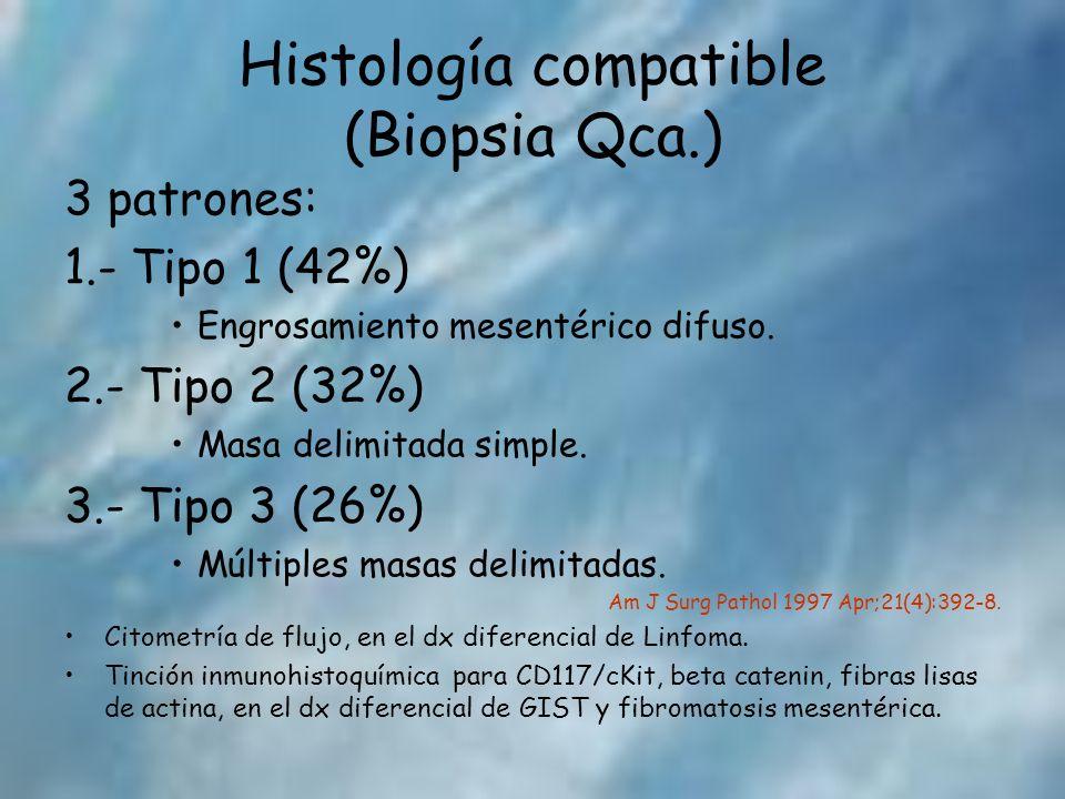 Histología compatible (Biopsia Qca.)