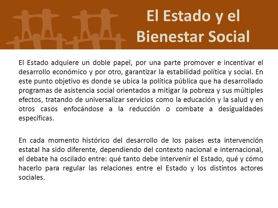 El Estado y el Bienestar Social
