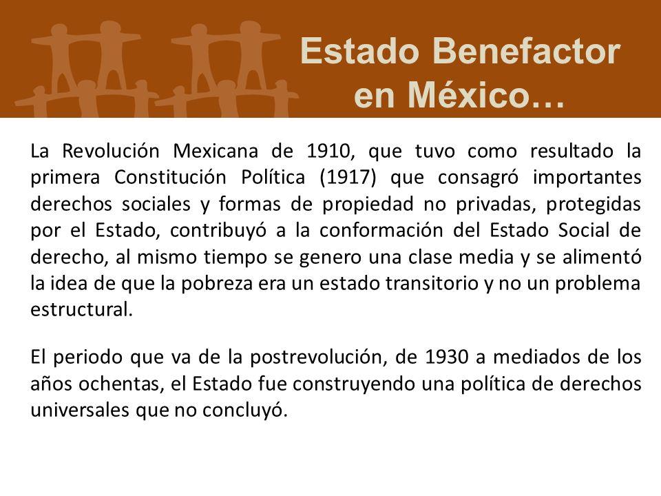 Estado Benefactor en México…