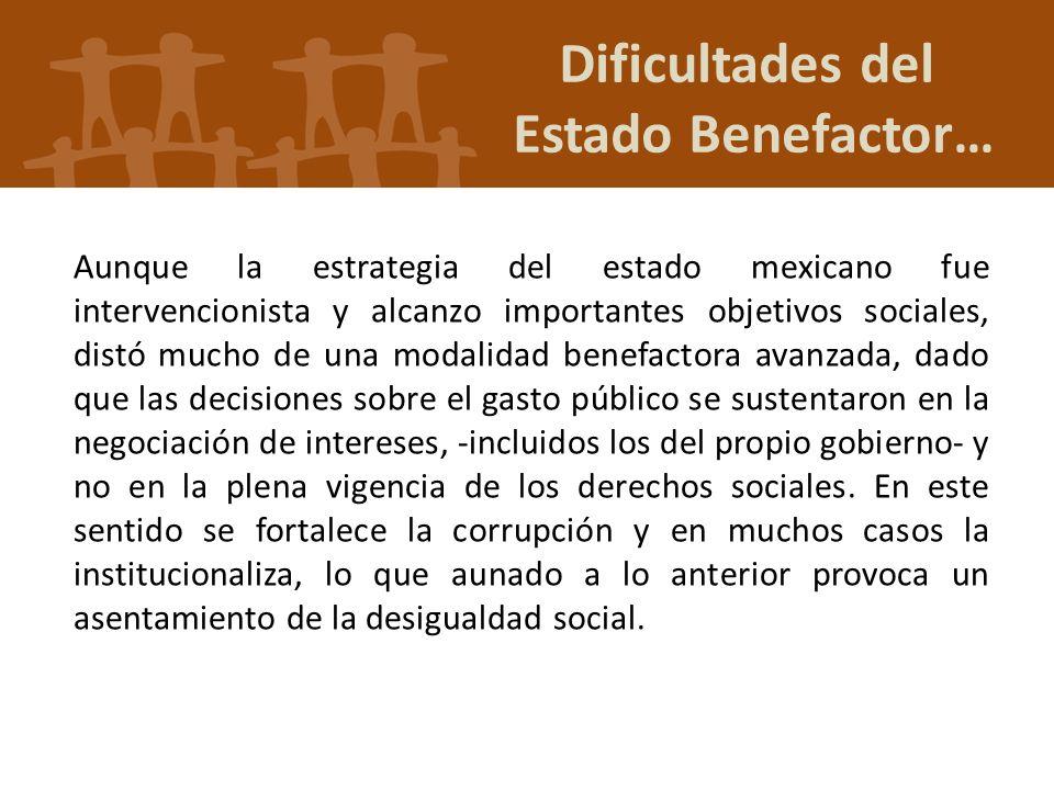 Dificultades del Estado Benefactor…