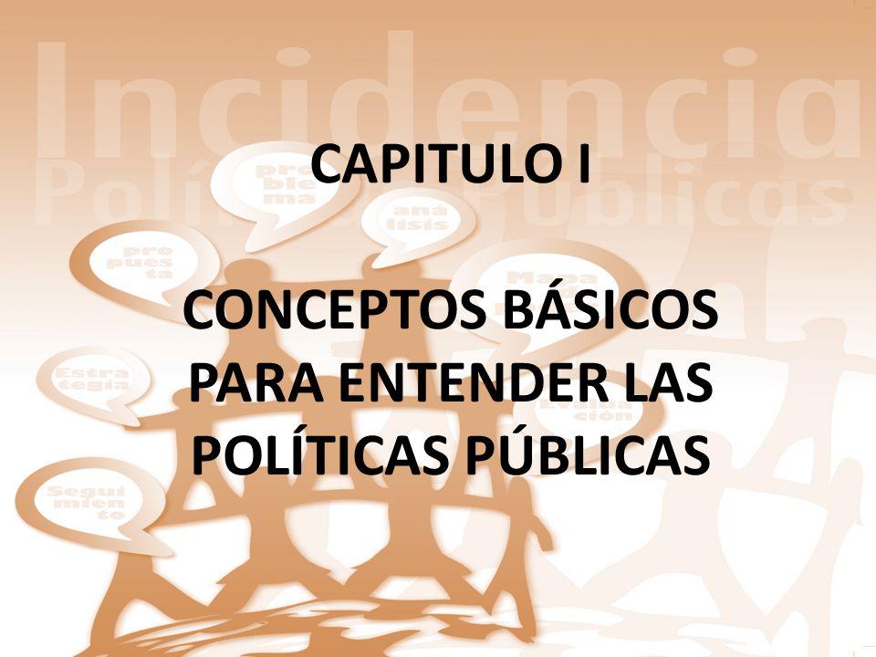CONCEPTOS BÁSICOS PARA ENTENDER LAS POLÍTICAS PÚBLICAS