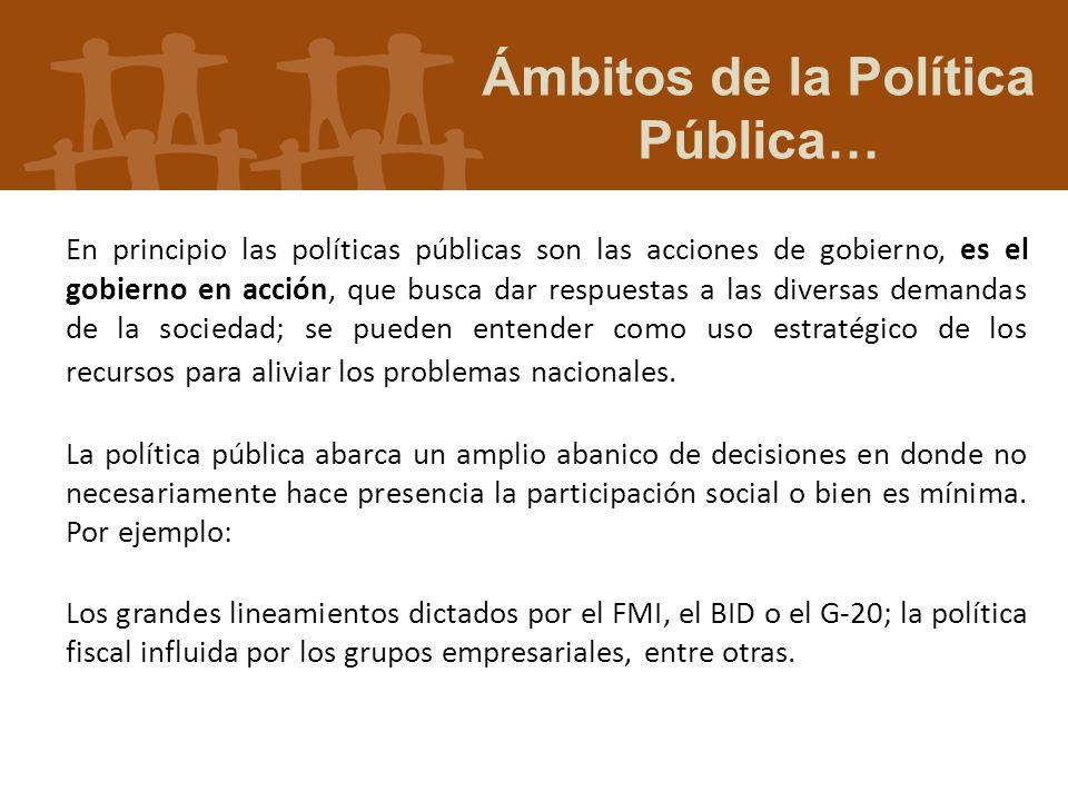 Ámbitos de la Política Pública…