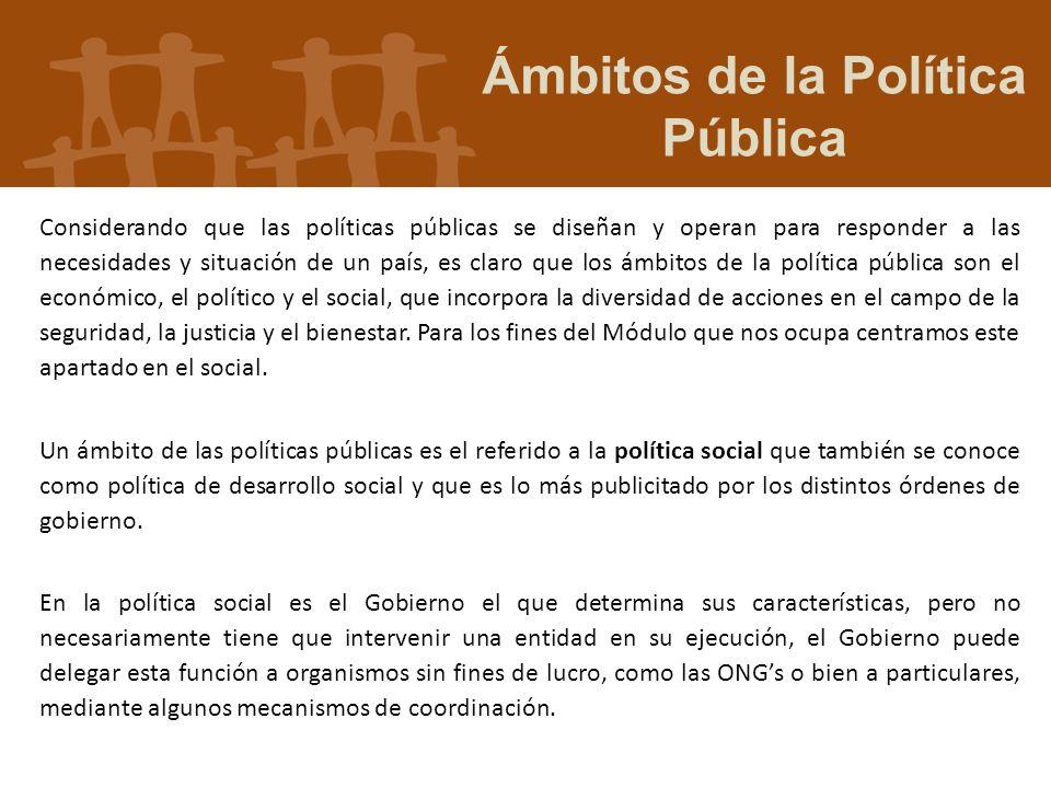 Ámbitos de la Política Pública