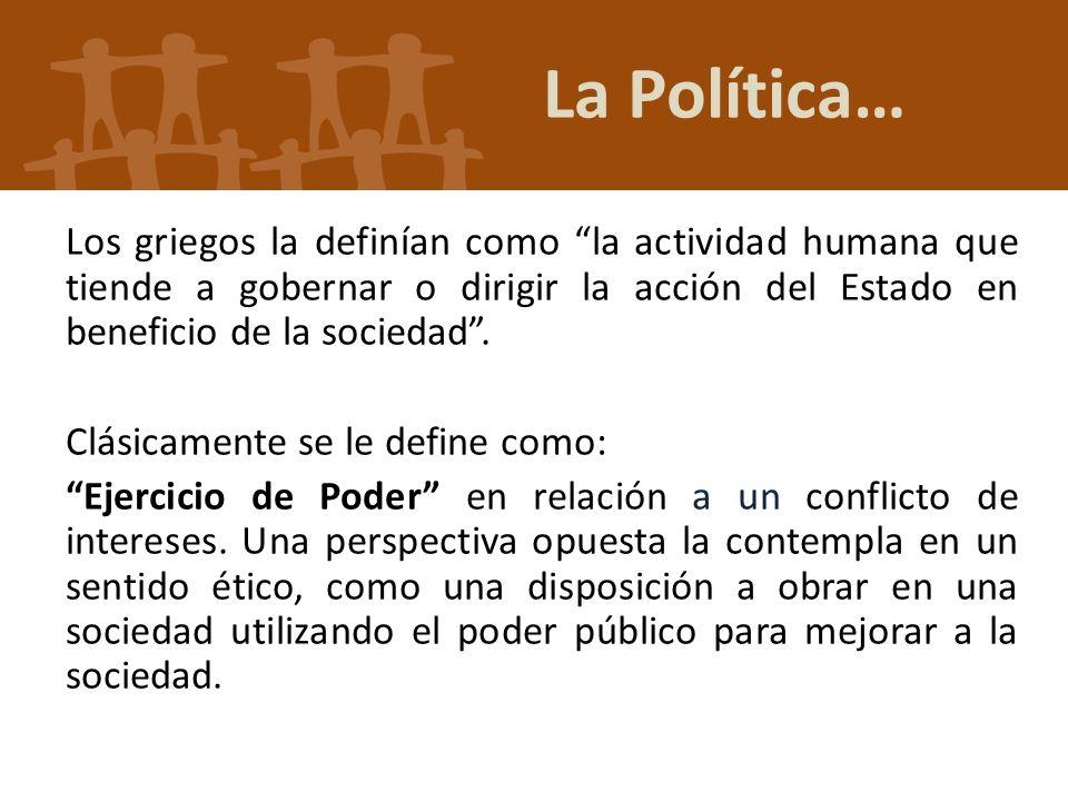 La Política…