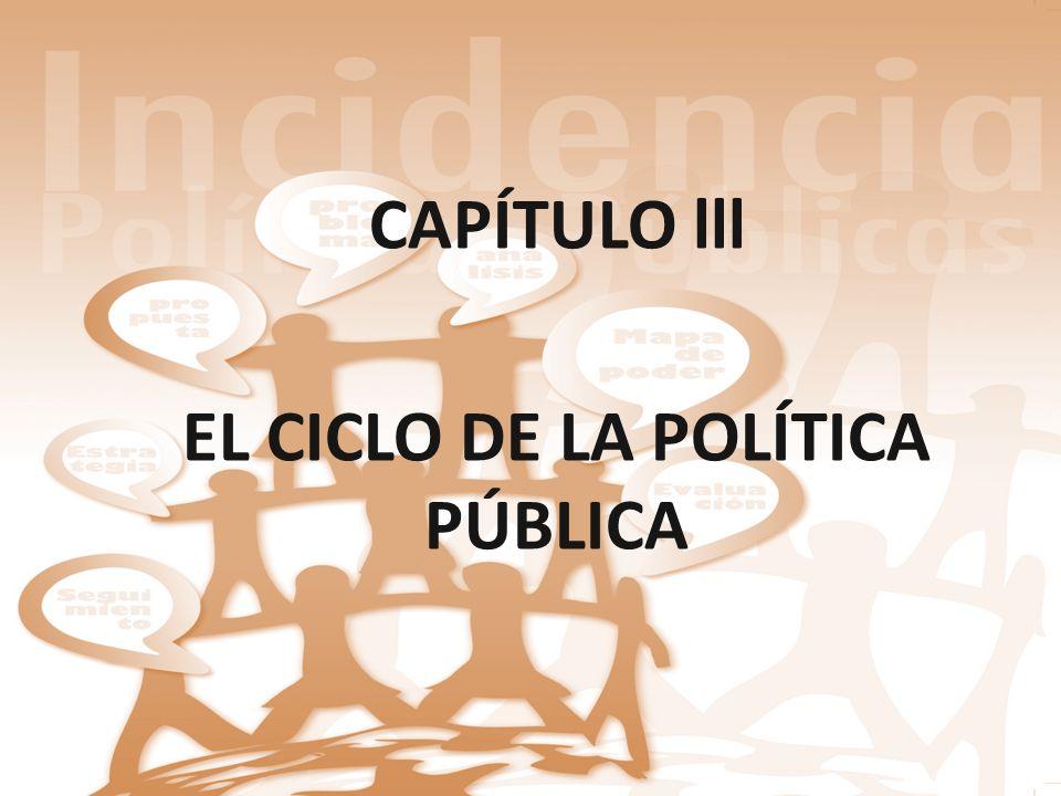 EL CICLO DE LA POLÍTICA PÚBLICA