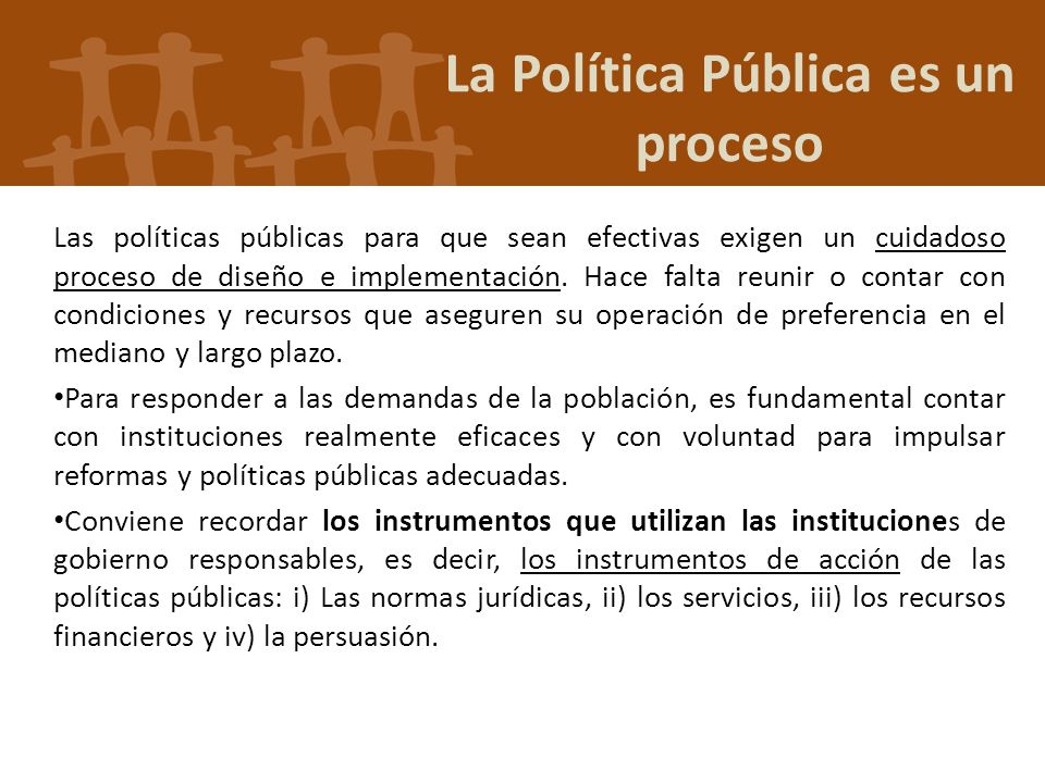 La Política Pública es un proceso