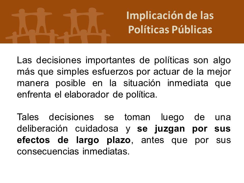 Implicación de las Políticas Públicas