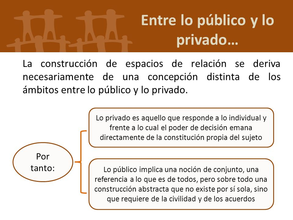 Entre lo público y lo privado…