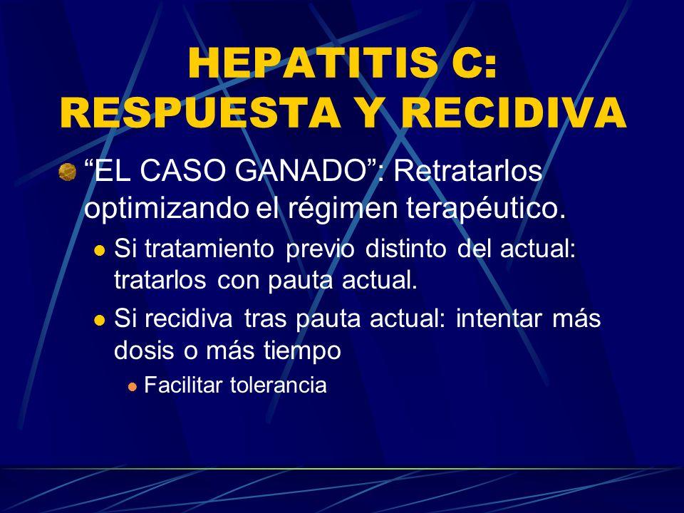 HEPATITIS C: RESPUESTA Y RECIDIVA