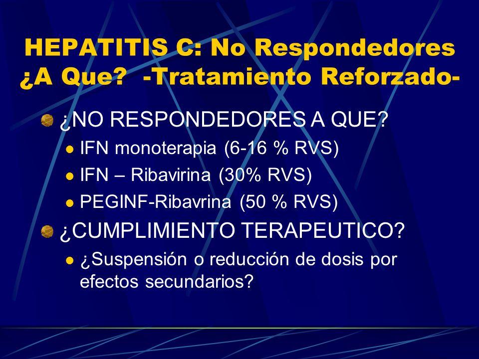 HEPATITIS C: No Respondedores ¿A Que -Tratamiento Reforzado-
