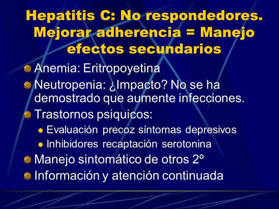 Hepatitis C: No respondedores