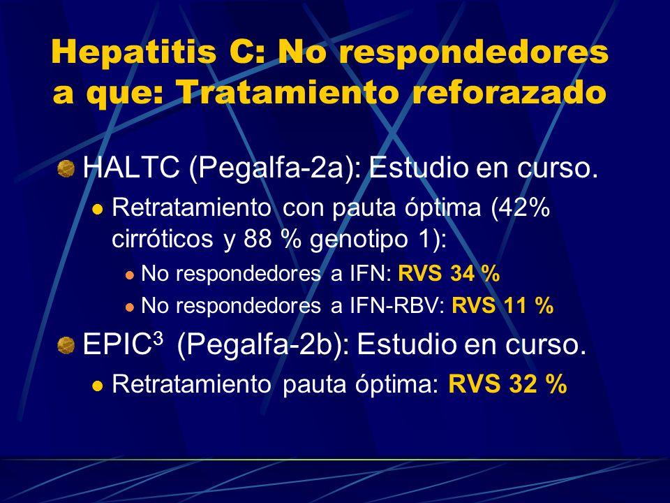 Hepatitis C: No respondedores a que: Tratamiento reforazado