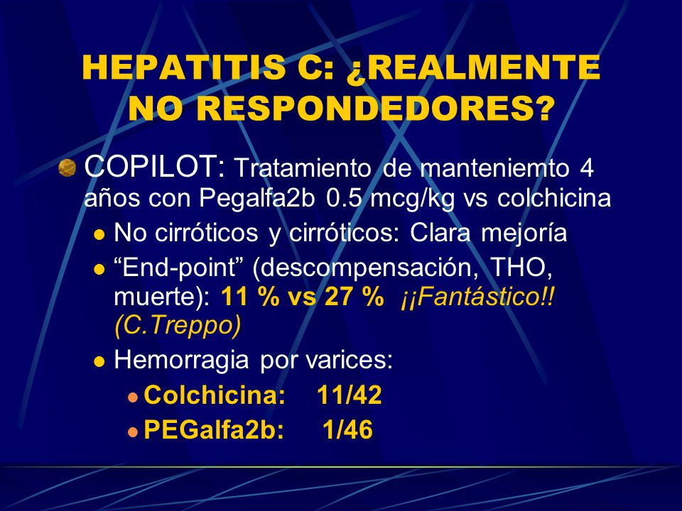 HEPATITIS C: ¿REALMENTE NO RESPONDEDORES