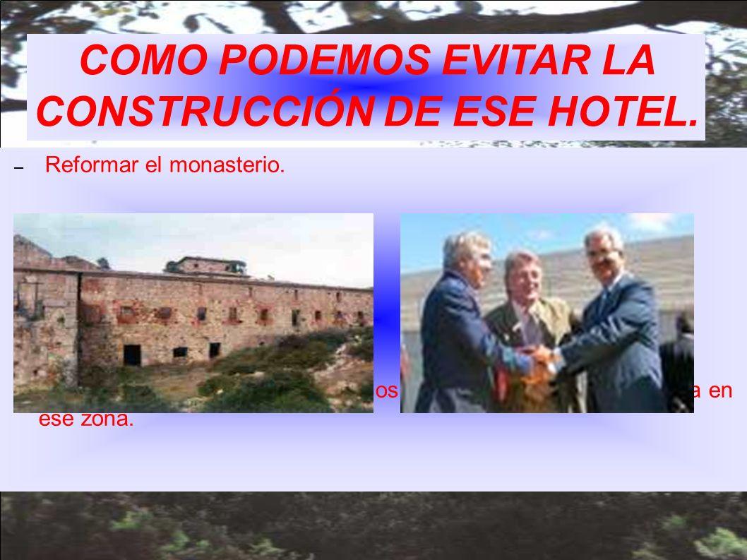 COMO PODEMOS EVITAR LA CONSTRUCCIÓN DE ESE HOTEL.