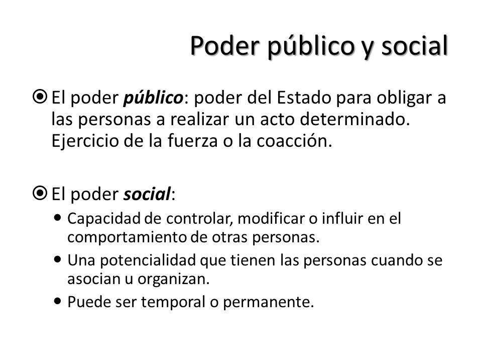 Poder público y social