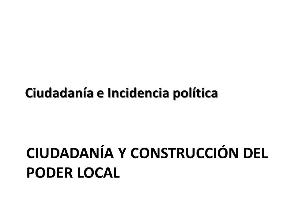 ciudadanía y construcción del poder local