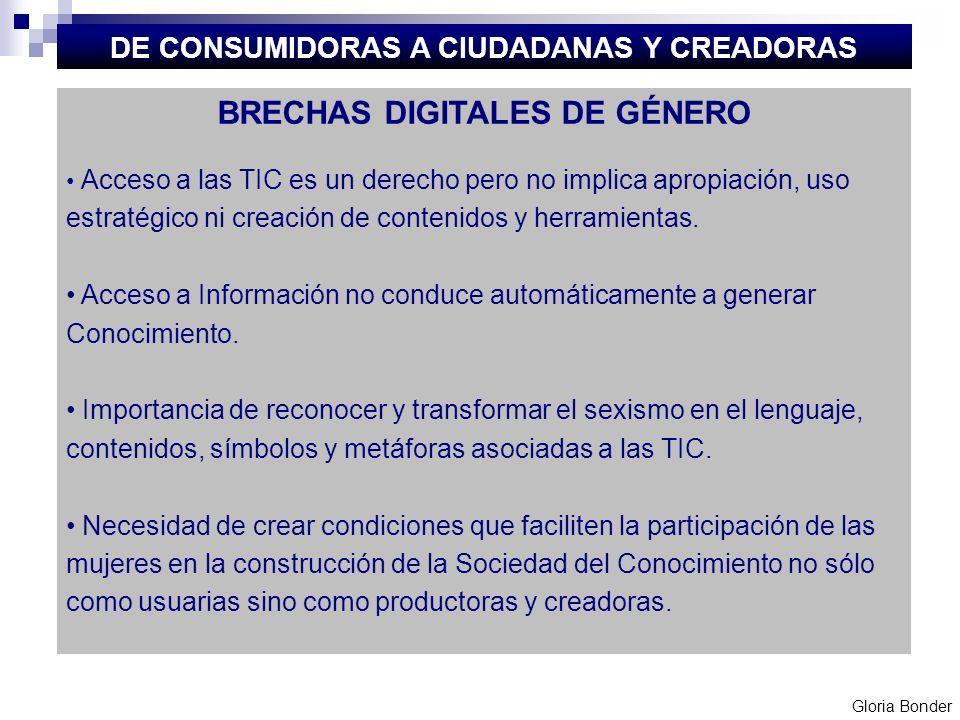 DE CONSUMIDORAS A CIUDADANAS Y CREADORAS