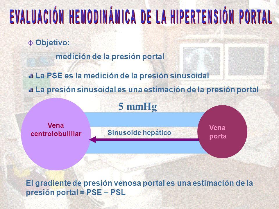 EVALUACIÓN HEMODINÁMICA DE LA HIPERTENSIÓN PORTAL