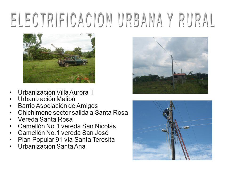 ELECTRIFICACION URBANA Y RURAL