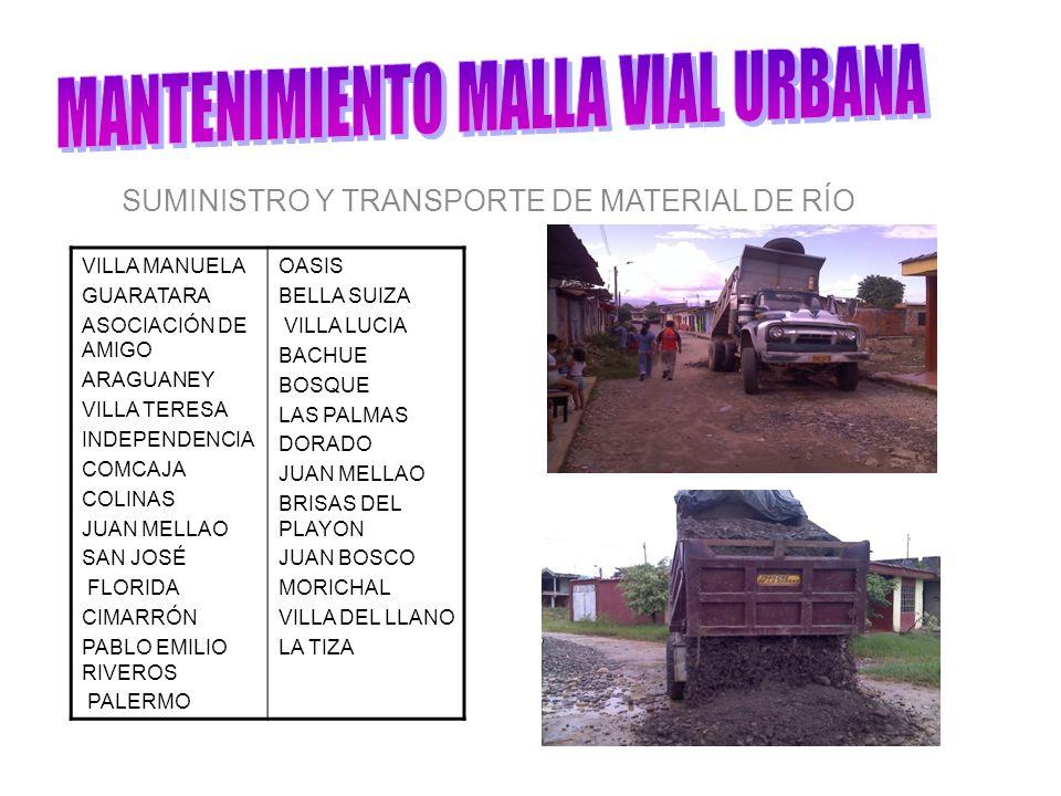 SUMINISTRO Y TRANSPORTE DE MATERIAL DE RÍO