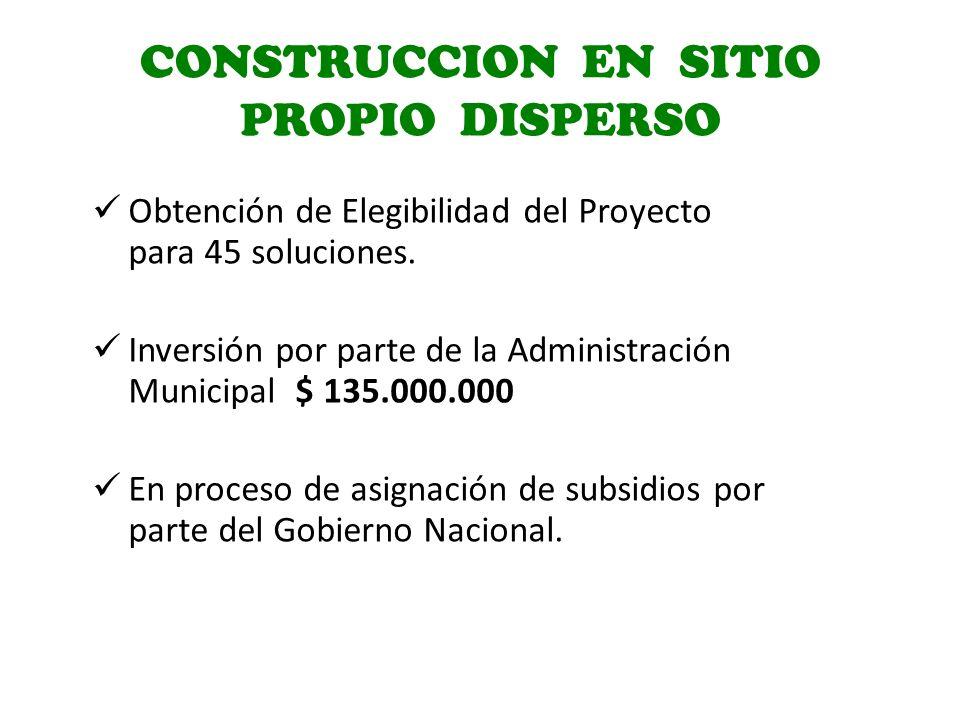 CONSTRUCCION EN SITIO PROPIO DISPERSO