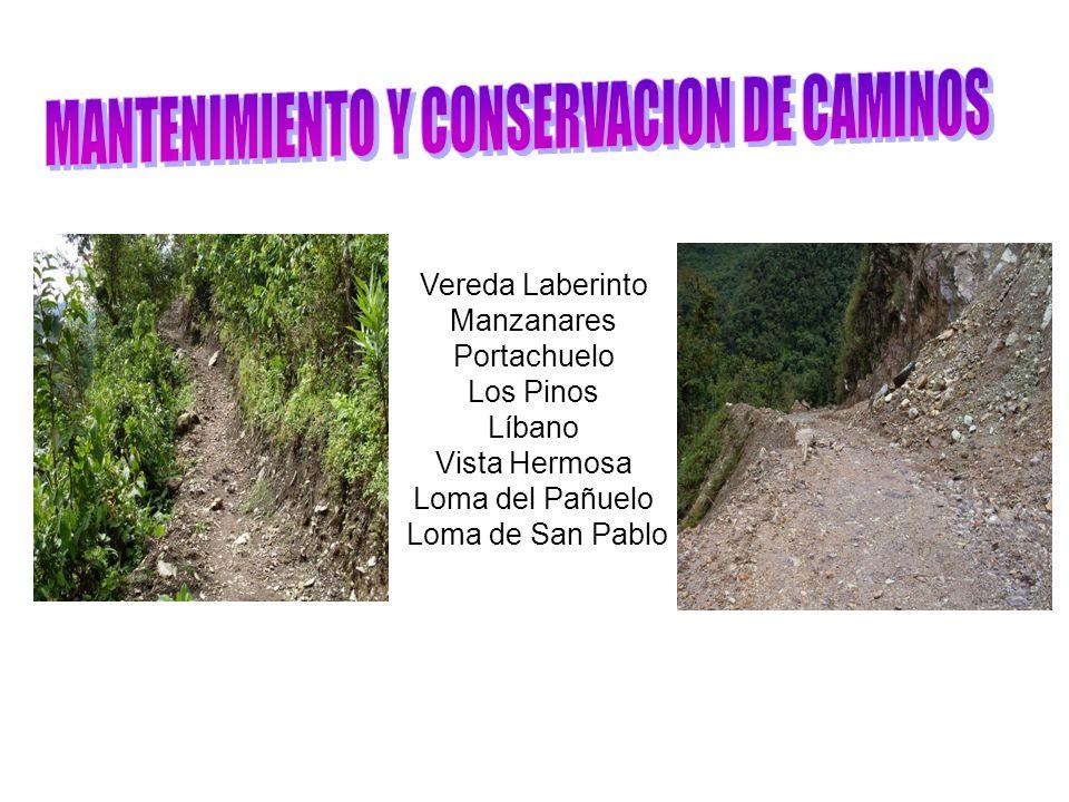 MANTENIMIENTO Y CONSERVACION DE CAMINOS