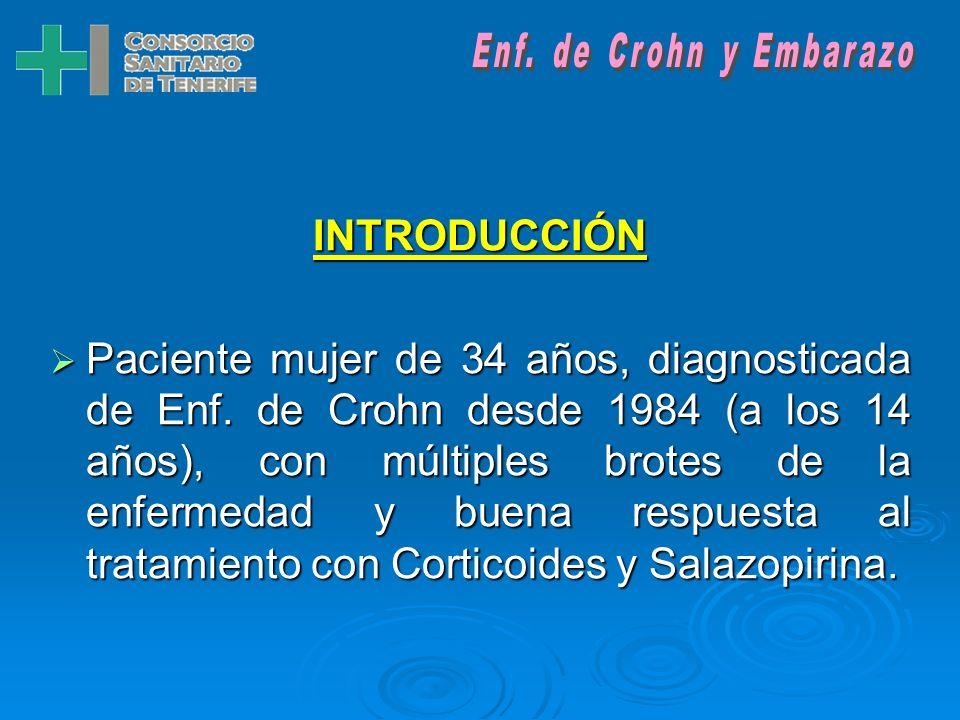 Enf. de Crohn y EmbarazoINTRODUCCIÓN.