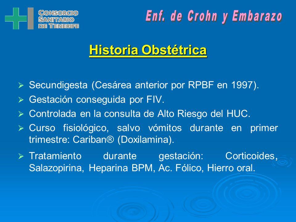 Historia Obstétrica Enf. de Crohn y Embarazo