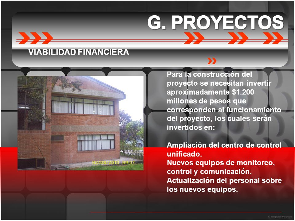 G. PROYECTOS VIABILIDAD FINANCIERA