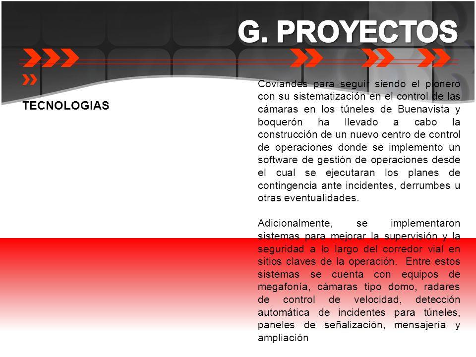 G. PROYECTOS TECNOLOGIAS