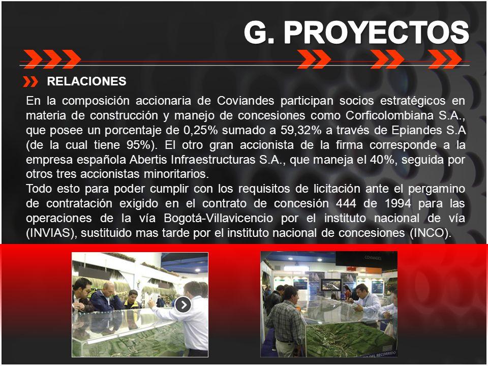 G. PROYECTOS RELACIONES