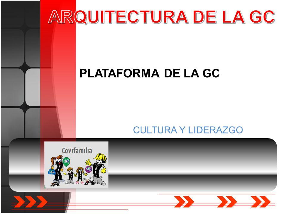 ARQUITECTURA DE LA GC PLATAFORMA DE LA GC CULTURA Y LIDERAZGO