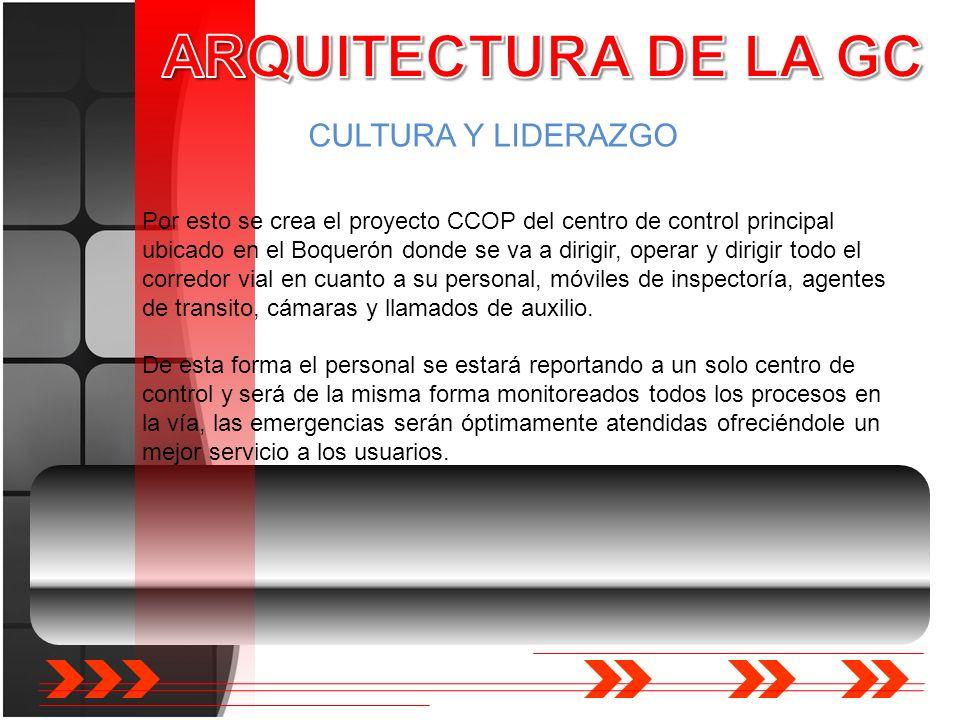ARQUITECTURA DE LA GC CULTURA Y LIDERAZGO