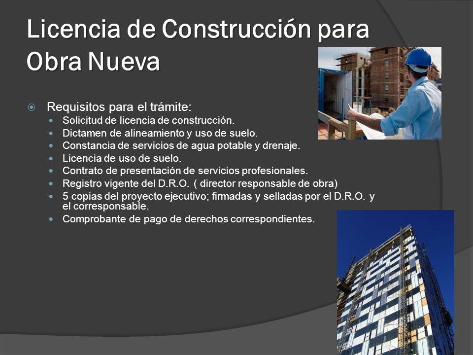Licencia de Construcción para Obra Nueva