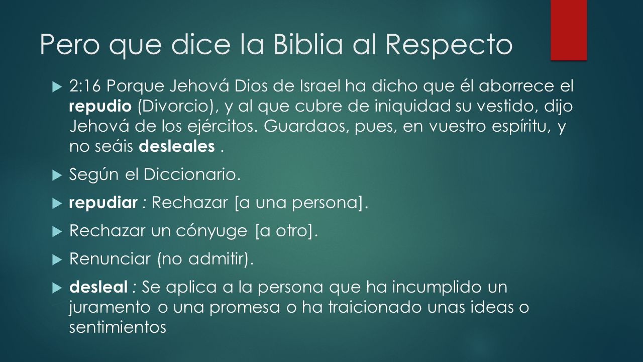 Pero que dice la Biblia al Respecto