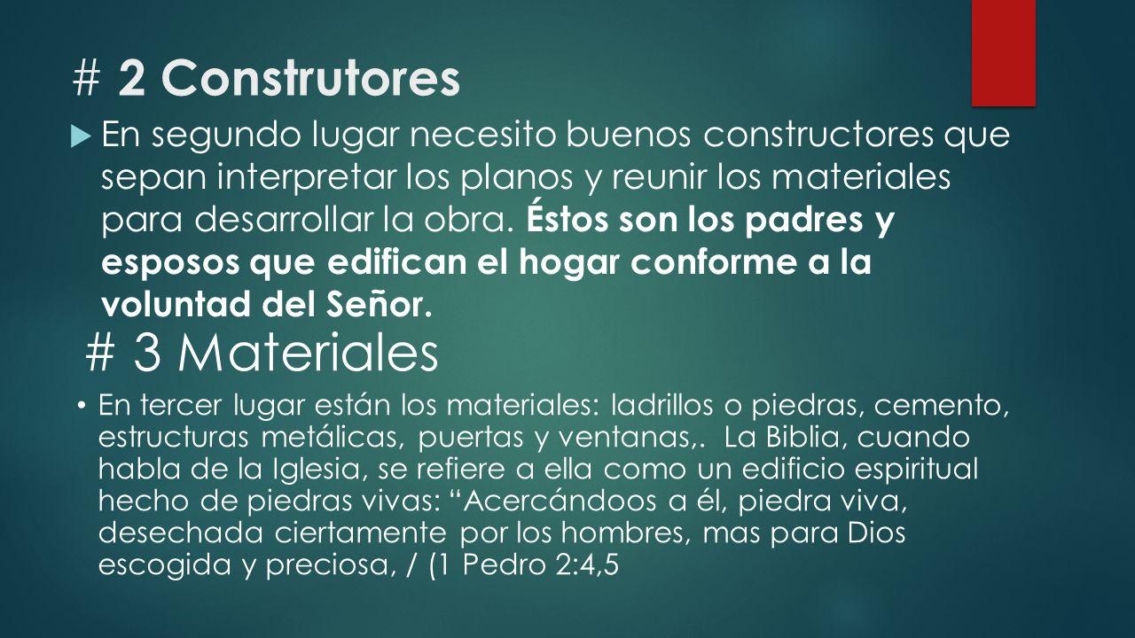 # 3 Materiales # 2 Construtores
