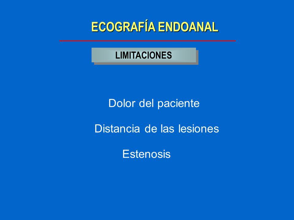 ECOGRAFÍA ENDOANAL Dolor del paciente Distancia de las lesiones