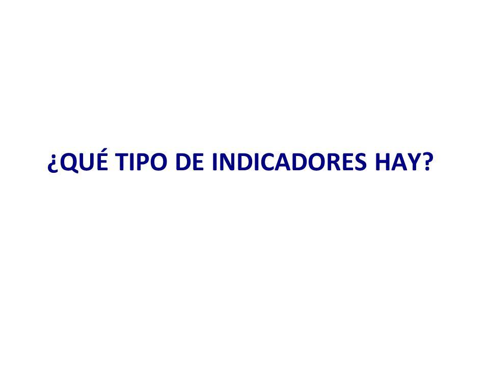 ¿QUÉ TIPO DE INDICADORES HAY