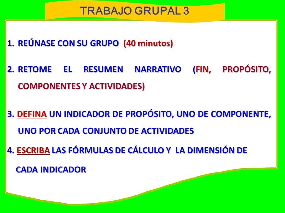 TRABAJO GRUPAL 3 1. REÚNASE CON SU GRUPO (40 minutos)