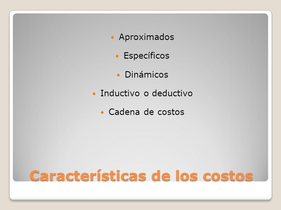 Características de los costos