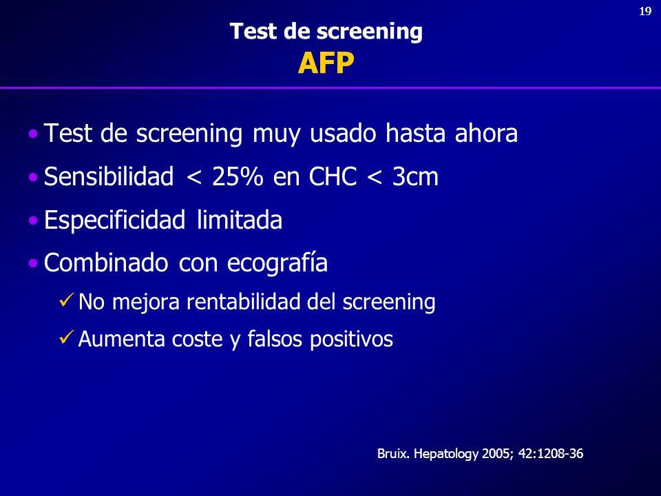 Test de screening muy usado hasta ahora