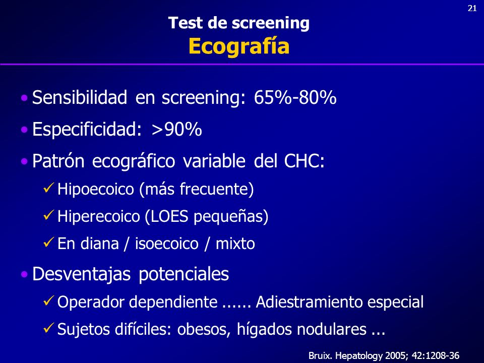 Test de screening Ecografía