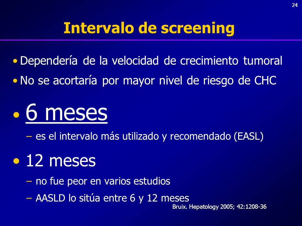 Intervalo de screening